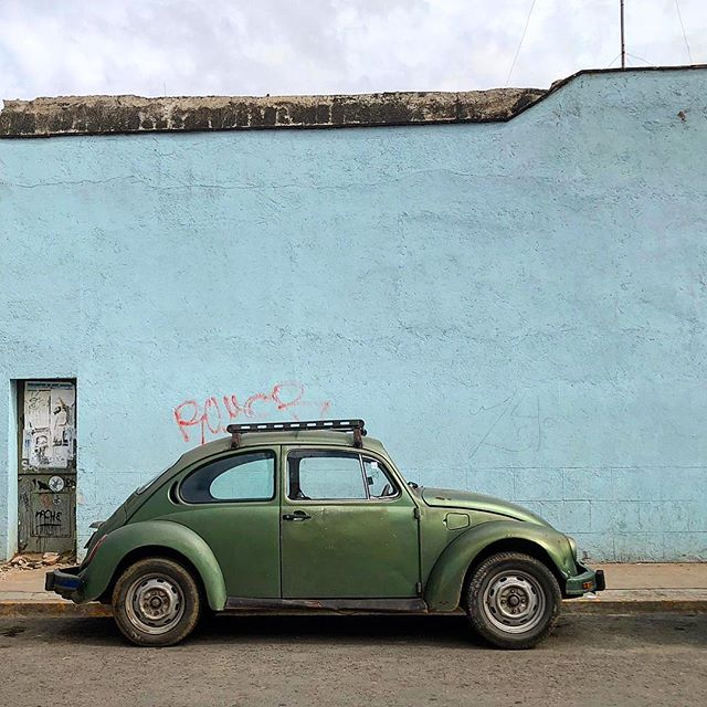 A Mexican icon, the Volkswagen Beetles, locally known as vochos, are spotted everywhere on the streets of Oaxaca — in a rainbow of different colors... www.jetawayguru.com