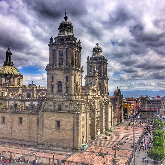 The Zocalo in Mexico City, on of the largest public plazas in the world, and has always been at the heart of the city, stretching from to the Aztec era. Today in the Zocalo you can visit the Metropolitan Cathedral, the largest cathedral in all of the Americas, The Templo Mayor an Aztec temple now archaeological site and museum, and The Palacio Nacional, which is home to Diego Rivera's famous 20 year mural, telling the history of the Mexican people.  www.jetawayguru.com