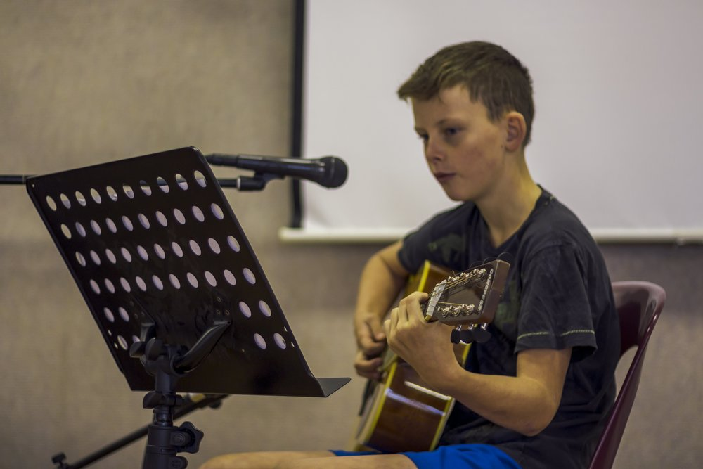 Guitar student Benjamin playing Seven Nation Army by The White Stripes