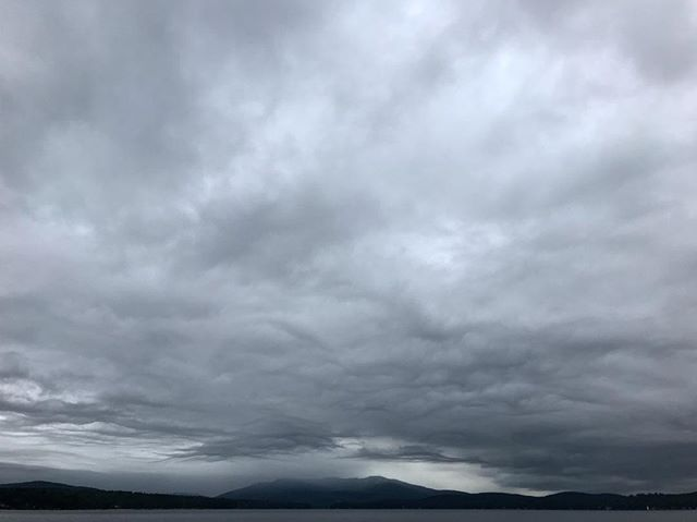 #rain #clouds brewing over #mtsunapee and #lakesunapee #newhampshire