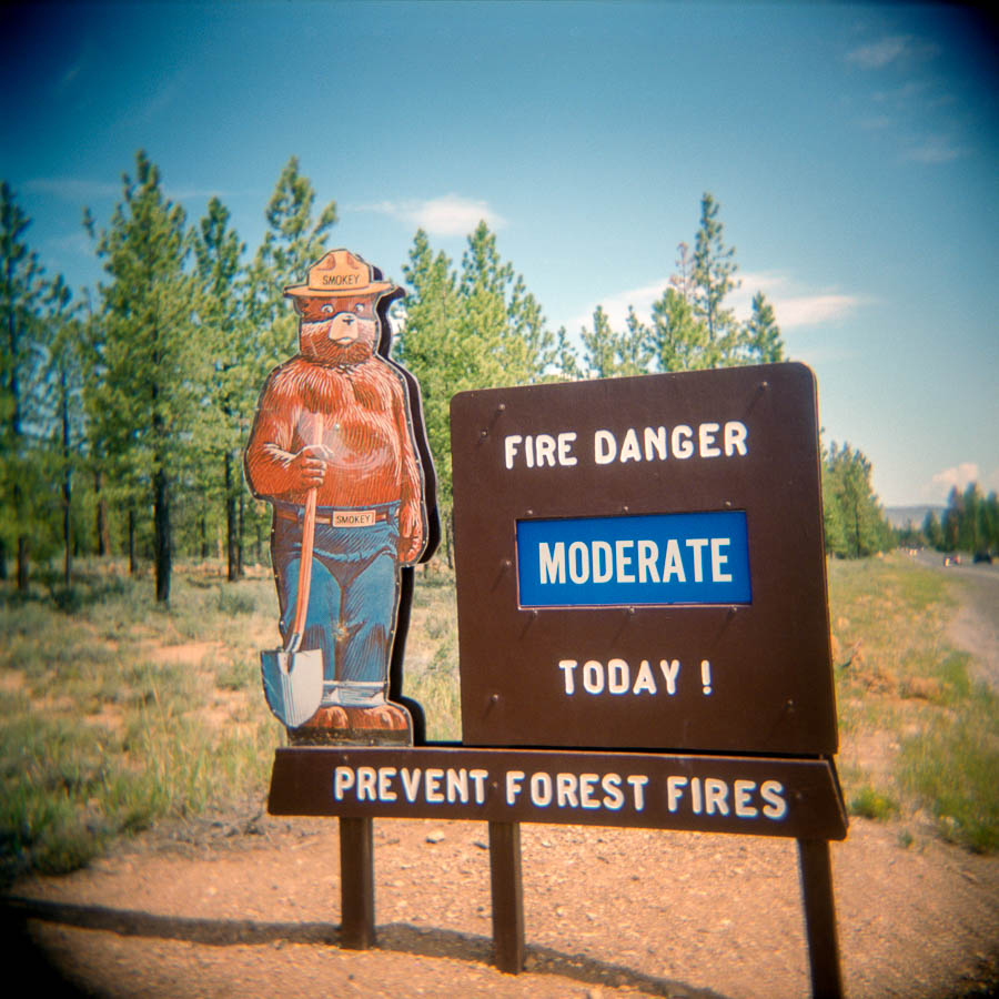 Fire danger moderate today - Bryce Canyon National park