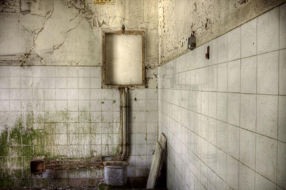 Lieux abandonnés - le préventorium Laelec - cuisine