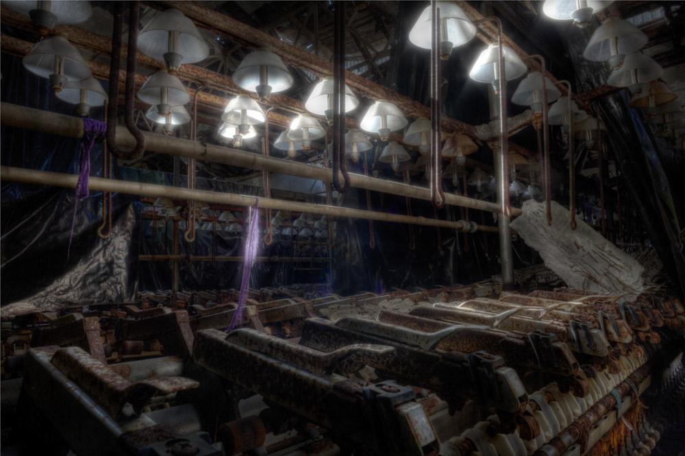 Lieux abandonnés - la filature Badin à Barentin - le fil mauve