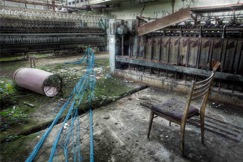 Lieux abandonnés - la filature Badin à Barentin - la chaise