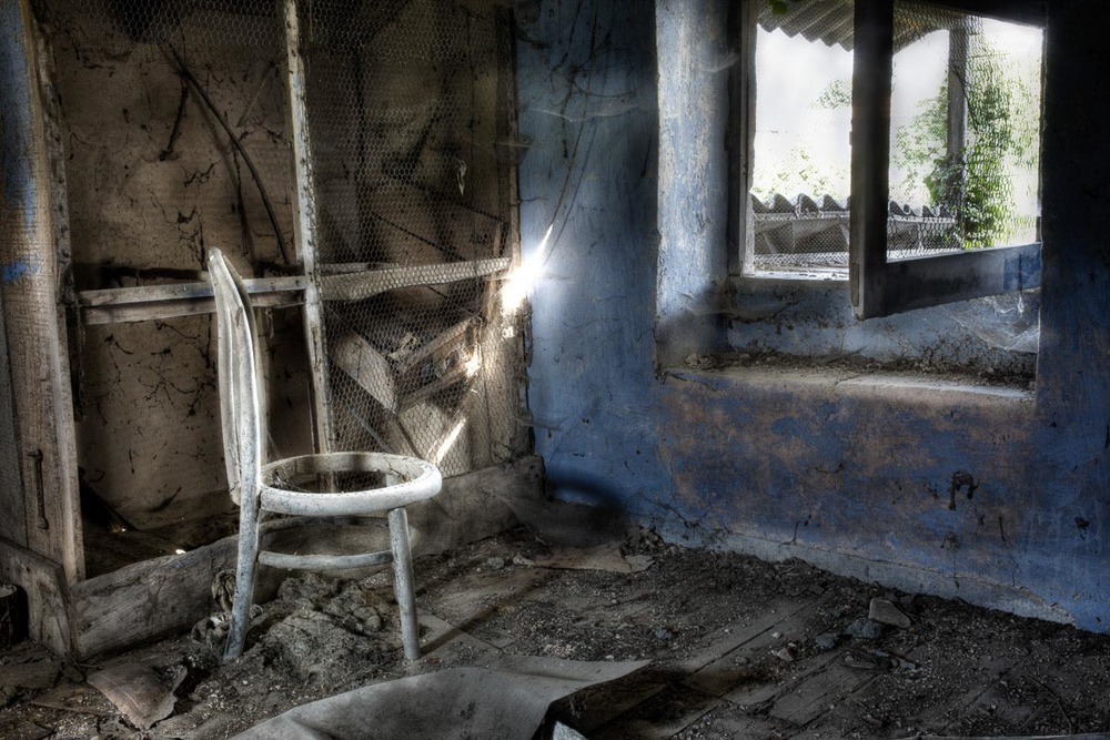Lieux abandonnés - Cabane de pêcheur - la chaise