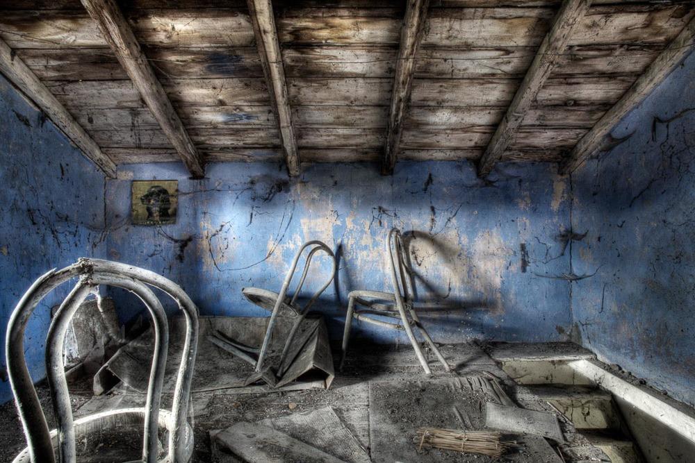 Lieux abandonnés - Cabane de pêcheur - l'étage