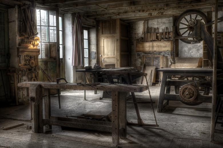 Lieux abandonnés - Atelier de menuisier