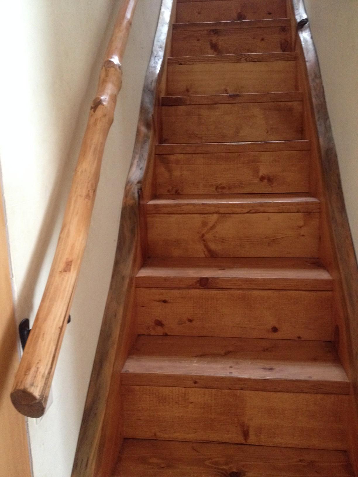 Live Edge Stairs Sticks Amp Stones Construction Llc