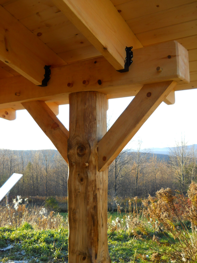 Timber Porch Addition To Cob House Sticks Amp Stones