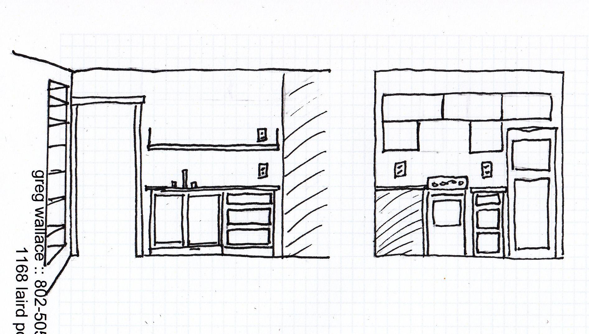 Kitchen Elevation Sketch