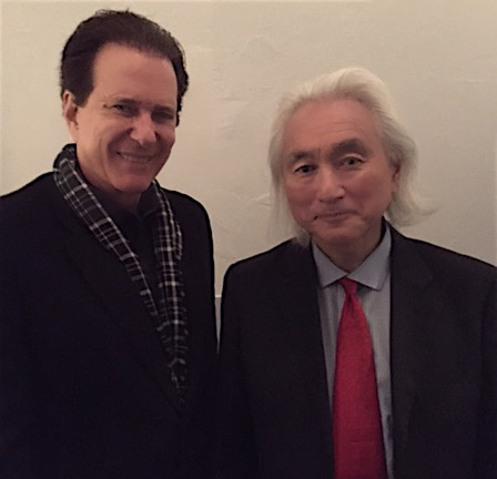 Rabbi david baron with physicist dr. michiO kaku