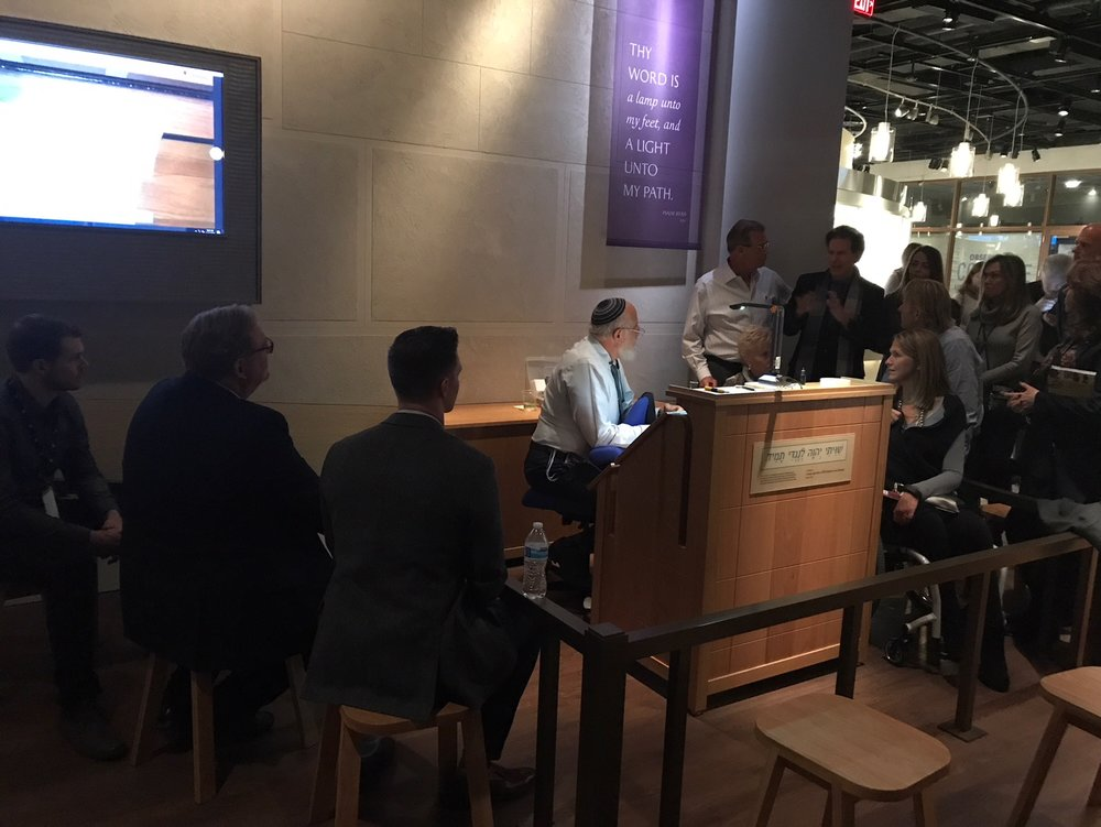 Rabbi at Museum of the Bible - 11/16/17