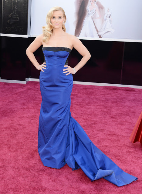 Oscar Red Carpet 2013 Reese Witherspoon dress designer Louis Vuitton
