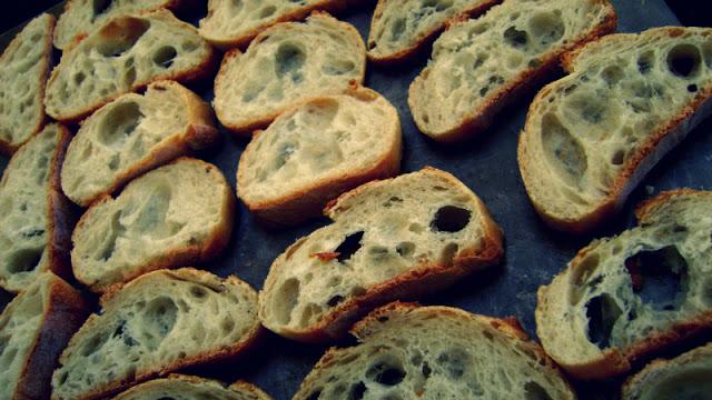 toasting crostinis