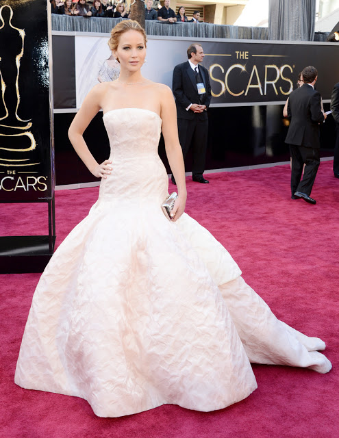 Jennifer Lawrence Oscars 2013 Dior Haute Couture