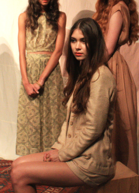 """Samantha Pleet at her Spring 2013 Collection """"Sands of time"""" Presentation at NYFW September 2012."""