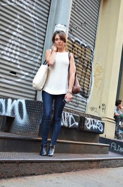 STL Fashion Blogger Black Booties NYFW