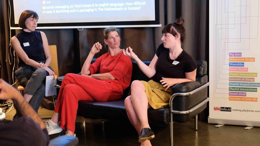Design for social change  - guest curator together with Ramon Schreuder at Behaviour Design AMS meetup. (speakers: Holly Habstritt Gaal (DuckDuckGo, Mozilla) and Mariah Mansvelt Beck (Yoni)