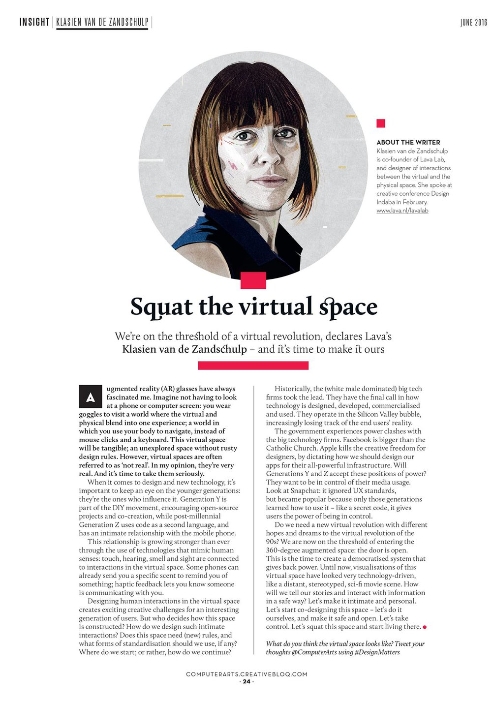 Article in Computer Arts Magazine 2016