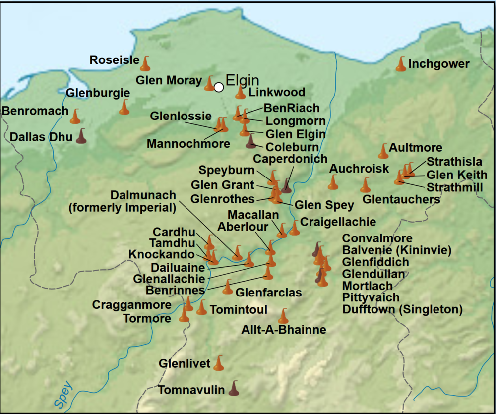 Whisky Distilleries on Speyside