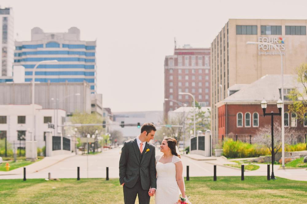 downtown peoria wedding photography