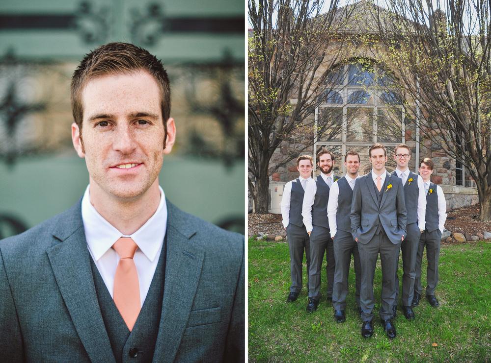 grey suits groomsmen