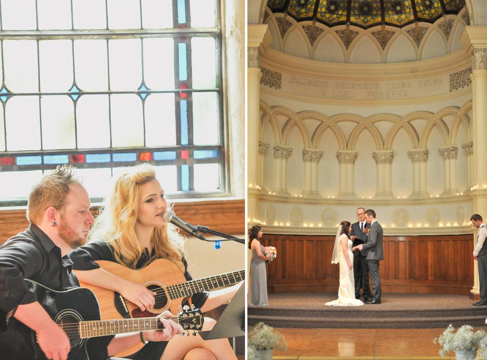 Abbey Folkien singing wedding ceremony