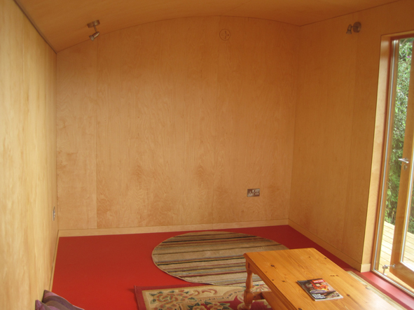Garden Room - Birch ply i nterior