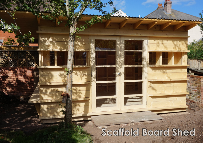 Garden Room - Scaffold Board Shed