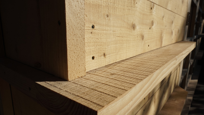 Garden Room -  Scaffold board timber detail