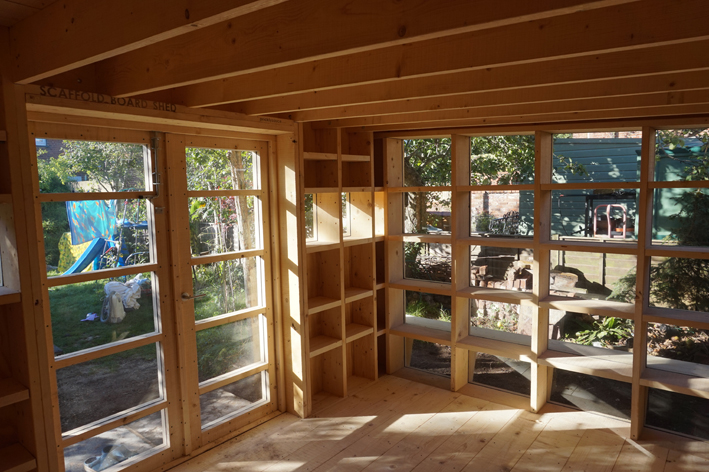 Garden Room -  Rough sawn tember interior