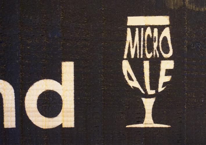 stencil signage