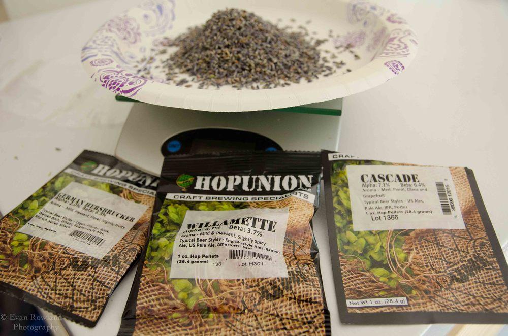 Lavender Saison Ingredients