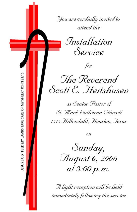 Ten Year Anniversary Of My Installation At St Mark Scott E