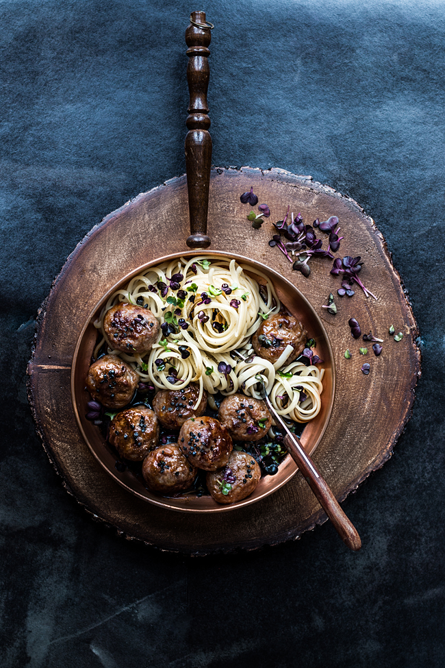 Asian meatballs style by Laura Domingo