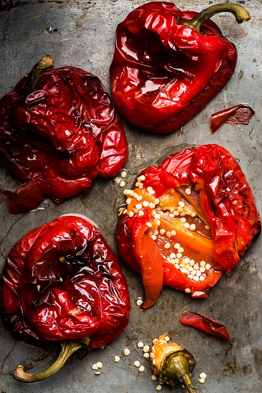 Roasted peppers by Laura Domingo
