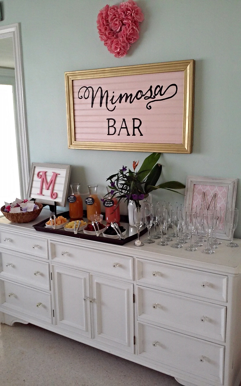 My mom and best friends did such an amazing job throwing my bridal shower! Hello what southern girl doesn't love mimosas and monograms?! (p.s. There might have been moonshine after the grandmas left)