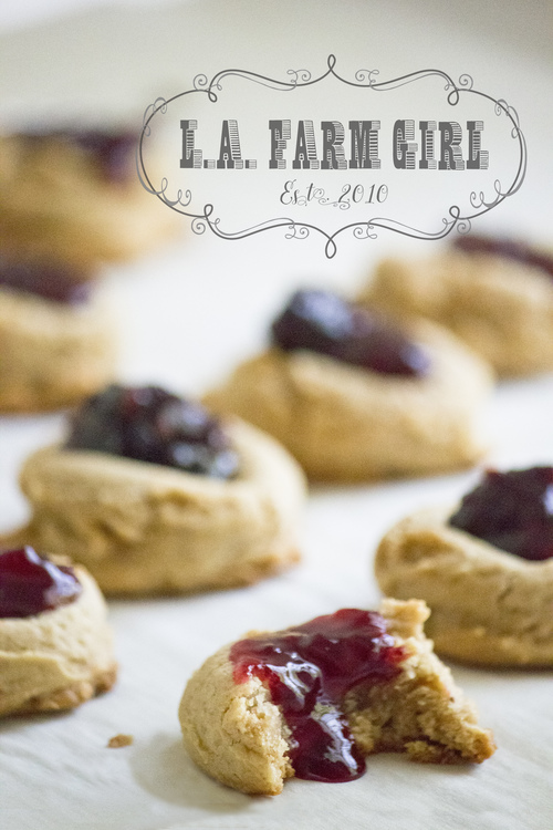 PB&J Thumbprint Cookies - SHOP ALL | L.A. FARM GRL JAMS