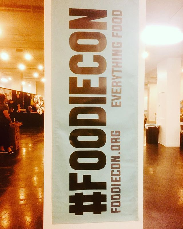 Where do foodies go to checkout the latest and greatest in food. Yep, that's right #foodiecon. See you tomorrow #foodblogger #eatla #foodiefeed #lajamjunkie #madeinla #ilovefoodtoomuch #ilovefoodblogs