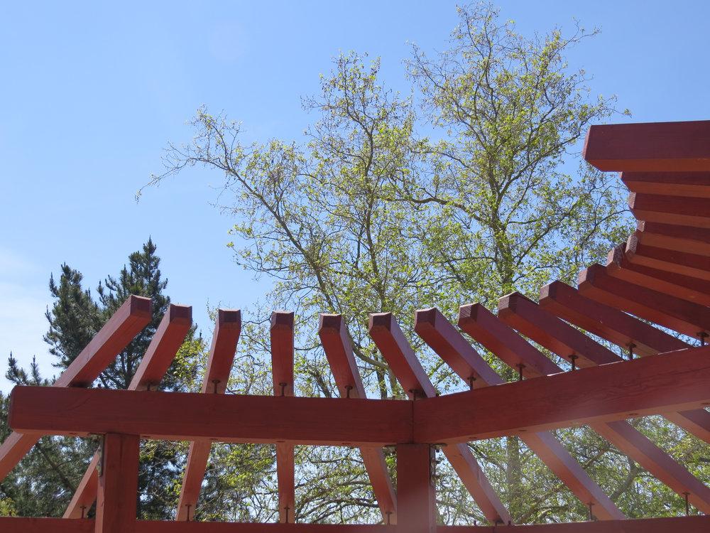 New Fire Safe Garden Pergola for the San Luis Obispo Botanical Gardens in San Luis Obispo, Ca.