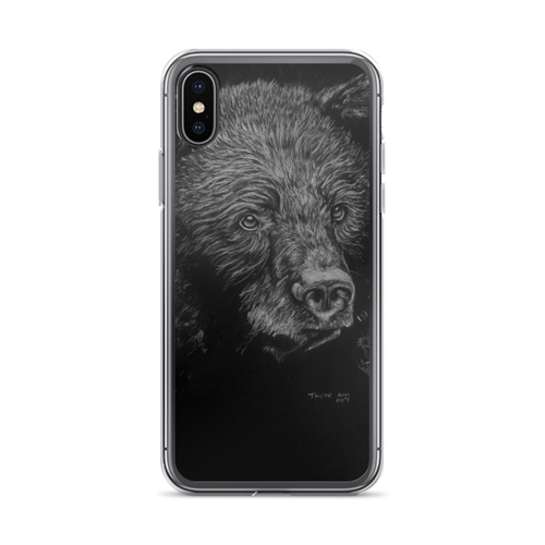 new styles 8b280 ab999 Black Bear iPhone Case