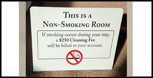 Non-Smoking Room Sign