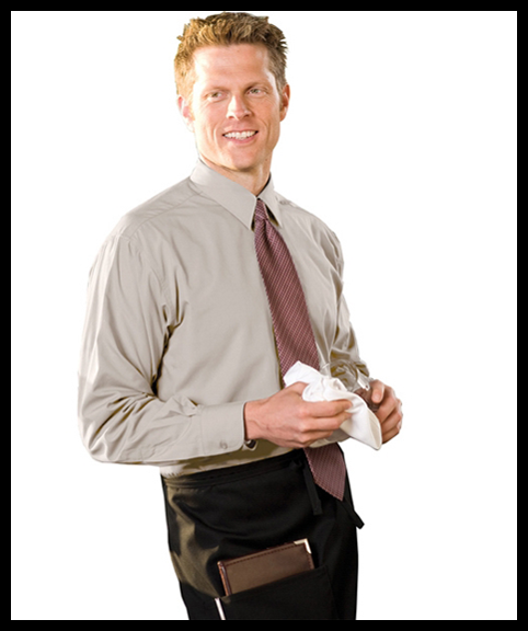 Long Sleeve Shirt & Half Bistro Apron