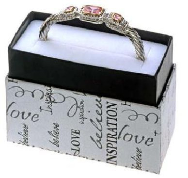 1. Pink Genuine CZ Designer Bracelet