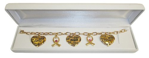 3. Fine Gold-Plated Charm & Swarovski Crystal Bracelet