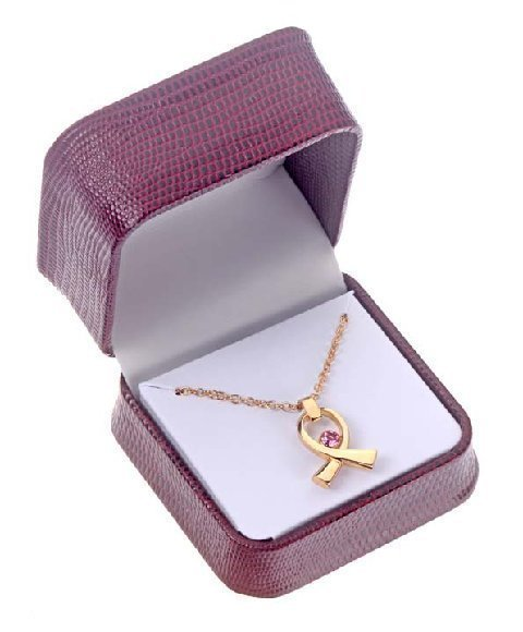 2 .  Fine Gold-Plated Crystal  Pendant Necklace