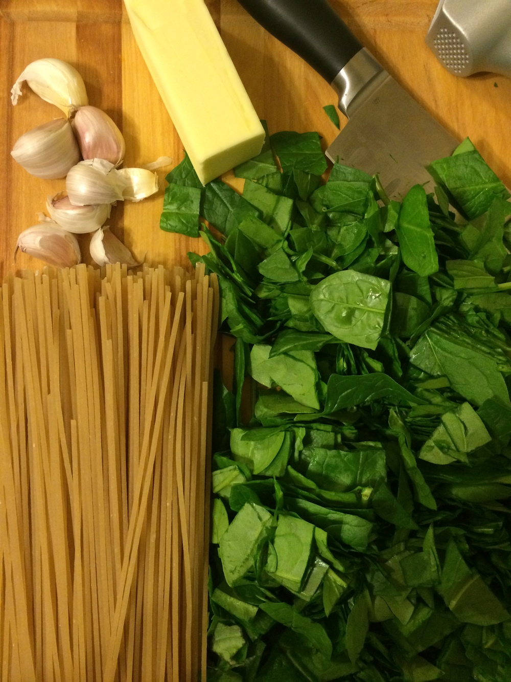 Cooking 101: Spinach Pasta