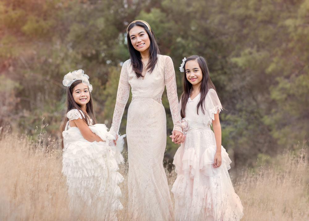 Beautiful mother and daughters