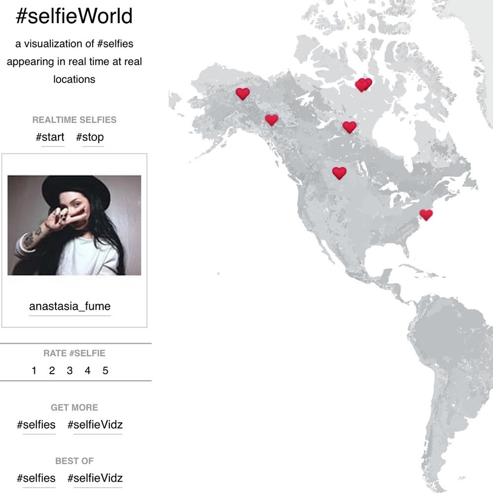 #SELFIEWORLD /API MASHUP