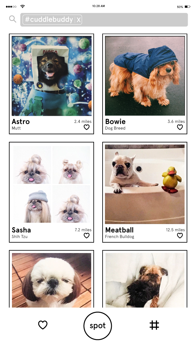 Users can search for any number of tags and browse through adoptable pets that meet their most important criteria.